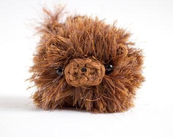 Chow chow dog plush toy - cute crochet amigurumi