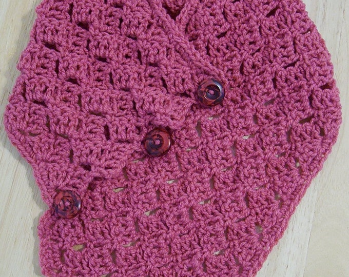 Scarf - Chunky Neckwarmer in Dark Pink