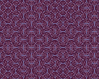 Empire Weave in Garnet  (JD54) - Joel Dewberry Fabric HEIRLOOM for Free Spirit - By the Yard