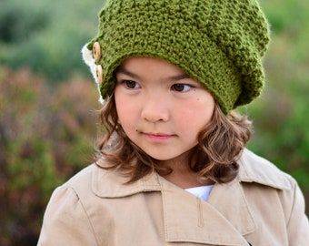 CROCHET PATTERN - Warm Wishes Slouchy - crochet slouchy hat pattern, crochet hat pattern (Toddler Child Adult sizes) - Instant PDF Download