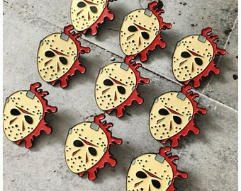 Jason Voorhees Splatter Enamel Pin