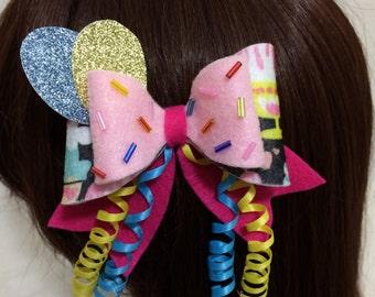 Pinkie Pie Felt Hair Bow, Kawaii Cosplay, Lolita, My Little Pony