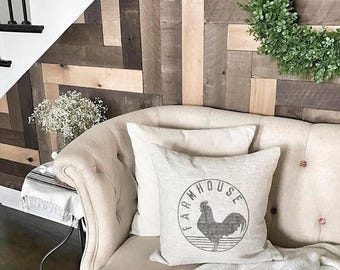 "rooster pillow, farmhouse pillow, farmhouse decor, animal pillow, rooster decor, ""The Rooster Farmhouse"""