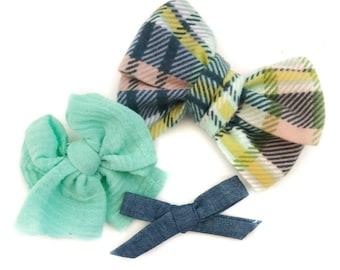 3 bow set / big bows / simple bows / sets