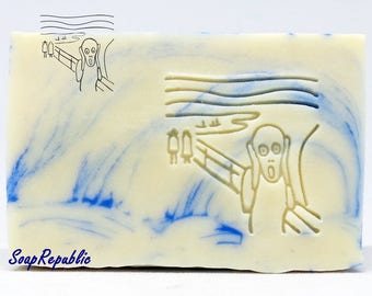 SoapRepublic 'The Scream' 35x35mm Acrylic Soap Stamp / Cookie Stamp / Clay Stamp