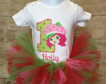 Strawberry Shortcake tutu birthday outfit