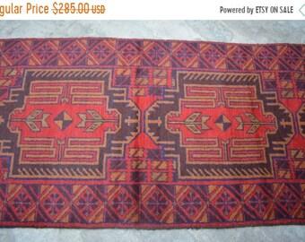 BIG SALE 9 x 2'5 FT Afghan Tribal Baluch rug runner