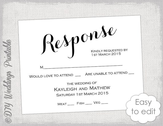 free rsvp template