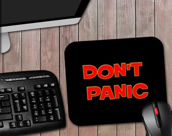 Don't Panic - Hitchhiker's Guide to the Galaxy Inspired Novelty Computer Mouse Pad Science Fiction Movie