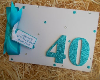 Personalised Milestone 40th Birthday Memory Scrapbook Photo Album Any Age 18th 21st 30th 40th 50th 60th 70th 80th
