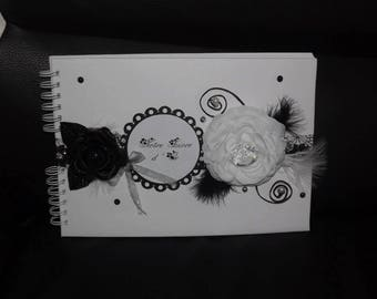 Black & white gold color book