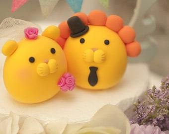 lion wedding cake topper