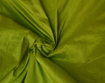 Silk dupioni in apple green, Extra wide  54 inches , Half yard, DEX  334