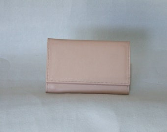 Handmade women's wallet in genuine calf leather various colors model large multipockets with paper holder coin purse