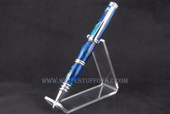 Royal Blue & Teal Twist Pen, Segmented