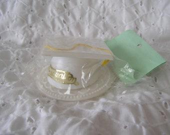 White Plastic Graduation Cap Hat Cake Topper Decoration ~ Graduate