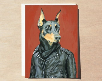 Sven - Greeting Card - Blank Inside - Dogs In Clothes