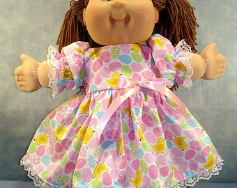 16 Inch Doll Clothes - Easter Eggs and Chicks with Glitter Dress made to fit 16 inch cloth dolls