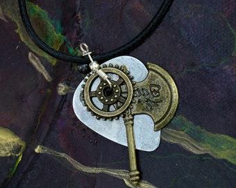 Guitar Pick Necklace - Geared Luck Axe