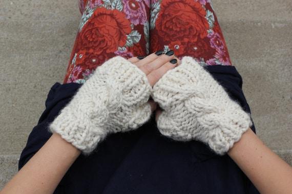 Knitting Pattern Pdf Bulky Fingerless Gloves Bulky Gloves Pattern