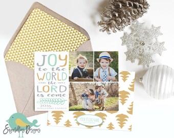 Holiday Card PHOTOSHOP TEMPLATE - Family Christmas Card 146