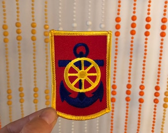 Vintage Anchor & Wheel Patch