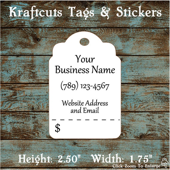 Price Tags Hang Tags Traditional Perforated Custom #600 - Quantity: 30 Tags