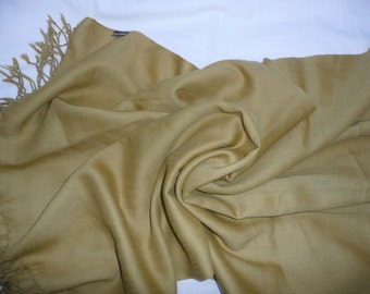 Shawl/scarf  large light moss green . Lambswool. Made in India.