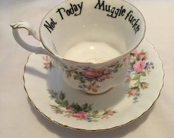 Harry Potter house cheeky teacups