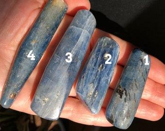 "2-3.25"" Kyanite Blue Wand Thick Kyanite Wand  Blue Kyanite  Tumbled Blue Kyanite"