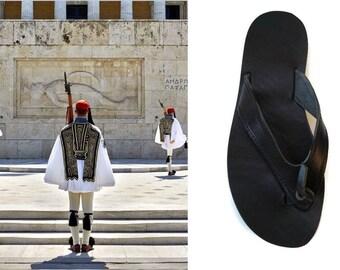 Sandales pour homme, en cuir flip tongs, sandales grecques, sandales en cuir, sandales en cuir grec, sandales marrons, sandales naturel, Platon