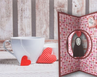 Valentine's Day ticket, Valentine's Day, faceless, 3d, Enchanted City, romantic gift