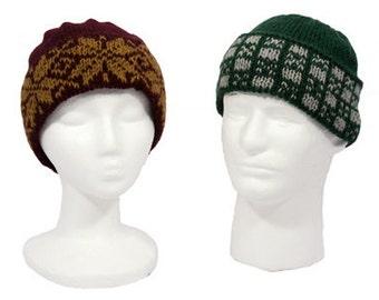 Easy Colorwork Fair Isle Hats - Knitting Pattern PDF