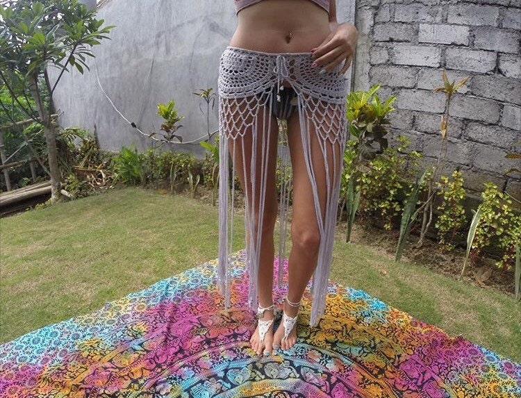 Gypsy Crochet Tassel Skirt With Long Fringe Taken From An