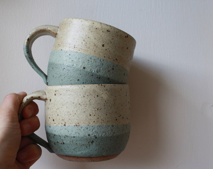 Coffee Mugs - Set of two - Handmade Mugs - Ceramics & Pottery - KJ Pottery