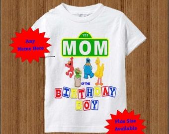 Sesame Street Mom Shirt - Raglan Adult Shirt