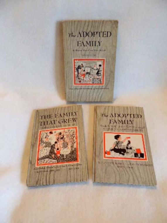 Vintage Book.. THE ADOPTIED FAMILY.. 2- Volume Set In Slipcase.. 1965