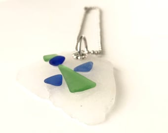 Genuine Sea Glass Angel Rear View Mirror Charm