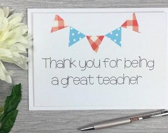Teacher Thank You Card - Thank You Teacher - Teacher Thank you - Teacher Card - Teacher Appreciation Card - Teacher Appreciation - Teacher