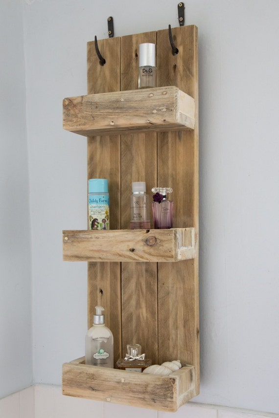 Fresh Rustic Bathroom Shelves made from reclaimed pallet wood QW02