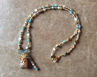 Beautiful Beaded Pineapple Necklace