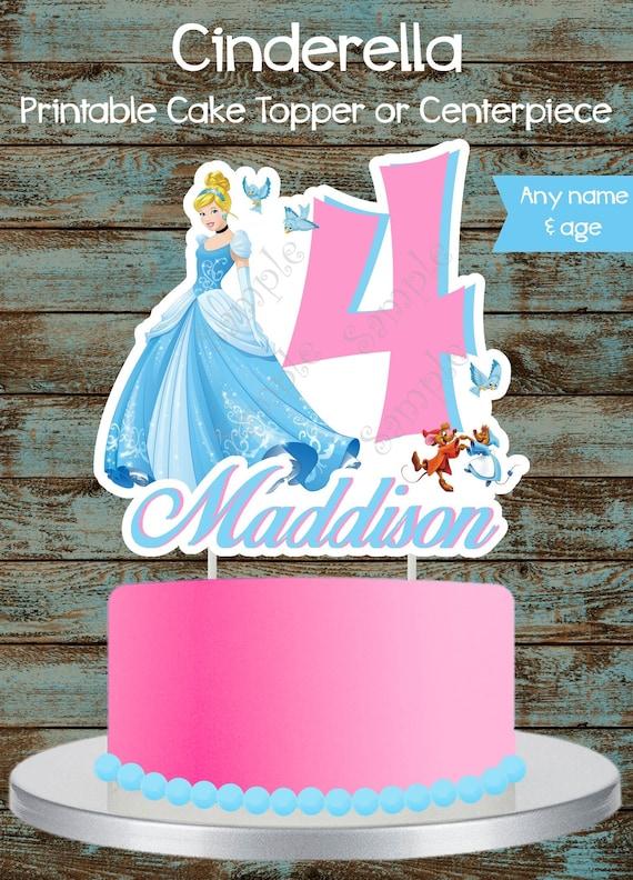 Princess Cinderella Cake Topper Princess Cinderella