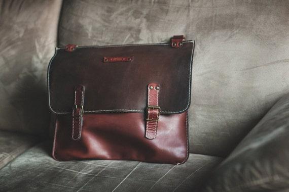 Laptop Bag,Handmade Leather Bag,Men retro briefcase,Business Retro Bag,Minimal Retro Bag