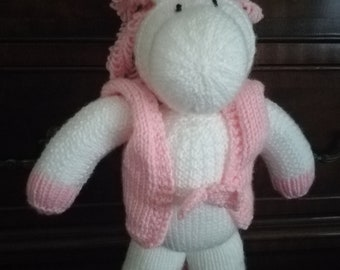 Hand Knitted Unicorn (ALL proceeds to the Cystic Fibrosis Trust)