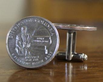 Duke Ellington, District of Columbia Cuff links, Quarter cufflinks