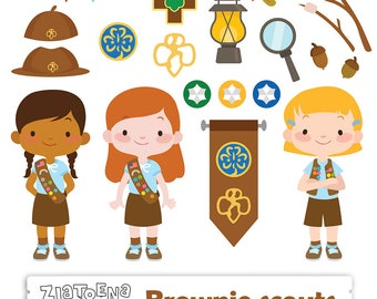 girl scout etsy rh etsy com girl scout clip art images girl scout brownie clipart