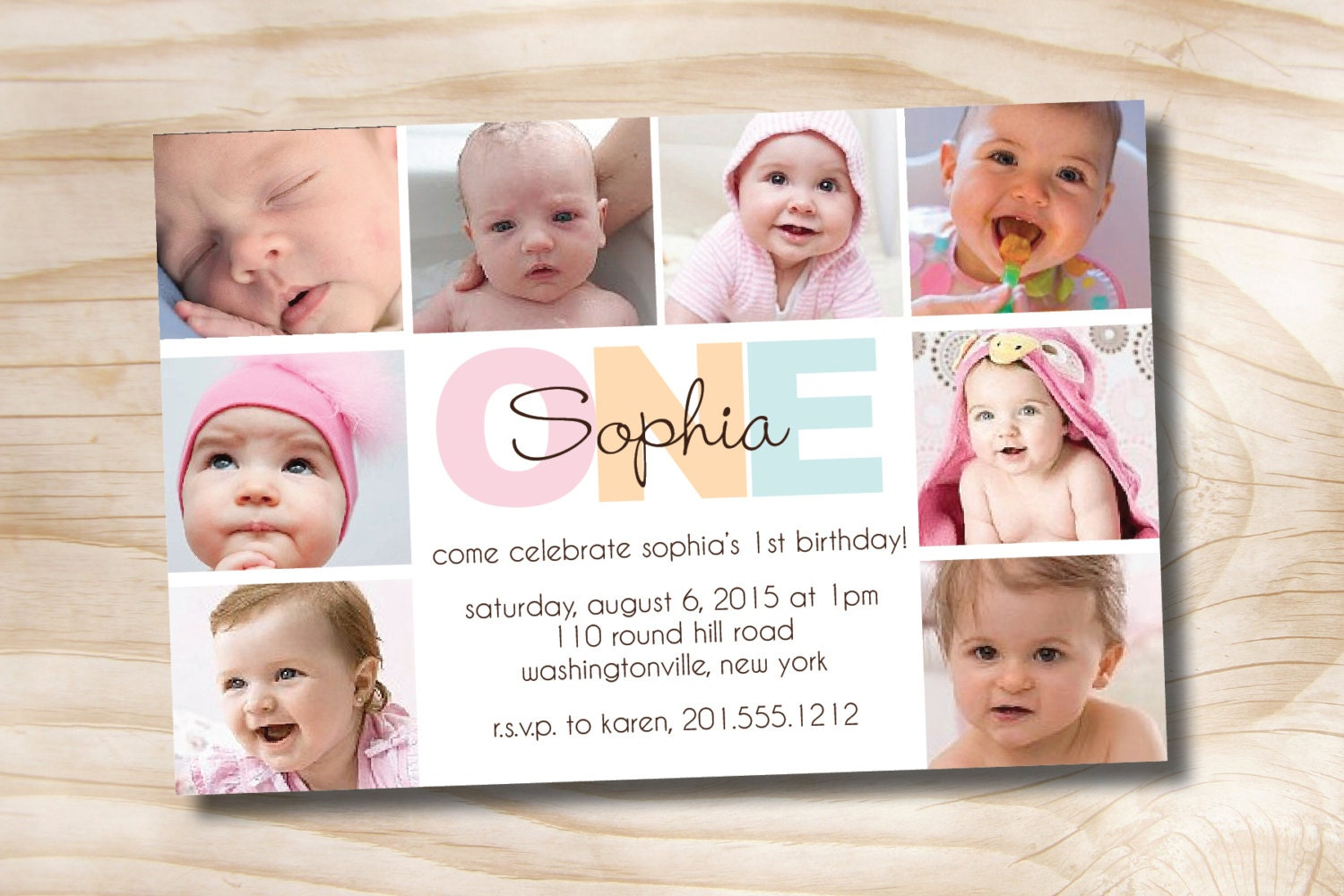 Bold birthday first birthday party event printable zoom filmwisefo Images
