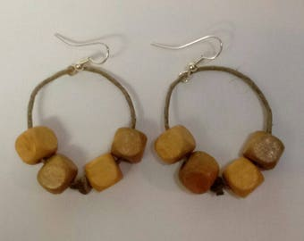 "1 1/4"" Handcrafted Wooden Earrings"