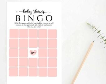 Printable Baby Shower Bingo Game, Baby Bingo, Baby Shower Games, Printable Baby Bingo Game, Boy Baby Bingo, Girl Baby Bingo, 022BBS, ABBS