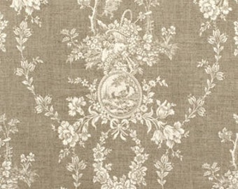 """Drapery Panel in Waverly Country House Toile Linen,  84"""" or 96"""" length"""